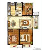保利堂悦3室2厅1卫98--103平方米户型图