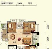 天鹅湾2室2厅1卫86平方米户型图
