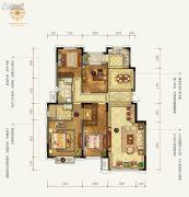 中信云邸4室2厅2卫161--165平方米户型图