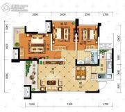 积家御景3室2厅1卫87平方米户型图