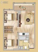 中鼎君和名城二期名汇2室1厅1卫86平方米户型图