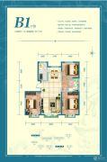 中交上东国际3室2厅1卫115平方米户型图