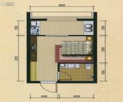 十三街区1室1厅1卫30平方米户型图
