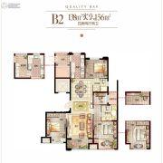 融创东投悦湾4室2厅2卫138平方米户型图