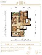 紫御江山2室2厅1卫0平方米户型图