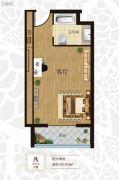 三岛明珠1室0厅1卫50平方米户型图