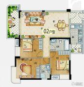 益华・山海郡3室2厅1卫110--120平方米户型图