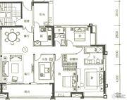 富力天禧花园4室2厅2卫168平方米户型图