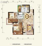 希望・玫瑰园2室2厅1卫73平方米户型图