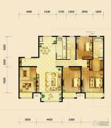 鸿坤・曦望山4室2厅2卫170平方米户型图