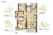 东润城3室2厅2卫124平方米户型图