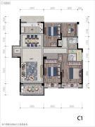 都会艺境4室2厅2卫0平方米户型图