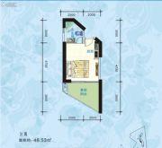 海悦湾0室0厅0卫48平方米户型图