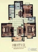 天和豪庭3室2厅1卫108--112平方米户型图