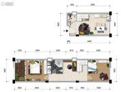洱海传奇2室1厅2卫85平方米户型图