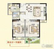 富城湾2室2厅1卫78平方米户型图