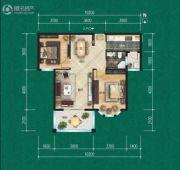 航宇・香格里拉2室2厅1卫86平方米户型图