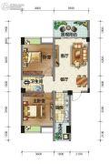 荣华山庄二期温情港湾2室2厅1卫88平方米户型图