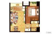 深业滨江半岛1室1厅1卫60平方米户型图
