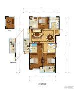 金都夏宫4室2厅2卫135平方米户型图