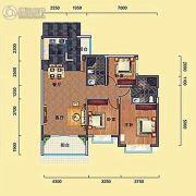 瑞海尚都3室2厅2卫115平方米户型图