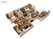 仁恒绿洲新岛4室2厅2卫169平方米户型图