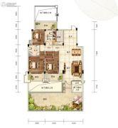 芙蓉万国城MOMA3室2厅2卫152平方米户型图