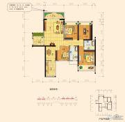 东盟华府4室2厅2卫120平方米户型图