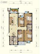 鸿大中域4室2厅2卫141平方米户型图
