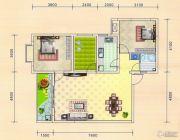金色港湾2室2厅1卫100平方米户型图