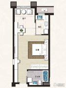 正大国际广场1室1厅1卫64平方米户型图