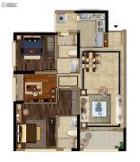 当代万国府MOMΛ3室2厅2卫93平方米户型图