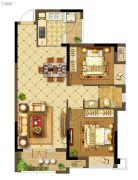 中建・状元府2室2厅1卫93平方米户型图