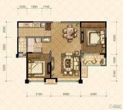 国信・国际公馆2室2厅1卫93--96平方米户型图
