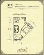 碧海一家名城1室1厅1卫52--69平方米户型图