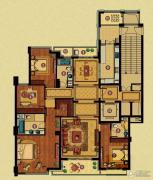百合花园4室2厅3卫213平方米户型图