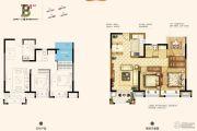 南京万达茂3室2厅1卫90平方米户型图