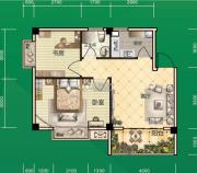 东和园2室2厅1卫60平方米户型图