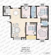 家合园二期4室2厅2卫147平方米户型图