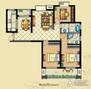 佳源・公园一号3室2厅2卫126平方米户型图