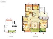 宏泰风花树3室2厅2卫111平方米户型图