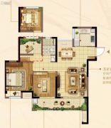 佳兆业君汇上品3室2厅1卫90平方米户型图