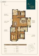 金隅和府3室2厅2卫133平方米户型图