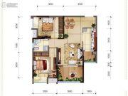 首创光和城2室1厅2卫64平方米户型图