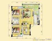 远达天际上城3室2厅1卫95平方米户型图