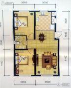 半山居2室2厅1卫0平方米户型图