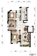 香河湾3室2厅1卫106平方米户型图
