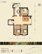 恒祥空间3室1厅1卫0平方米户型图