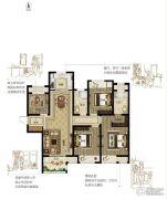 绿都悦府4室2厅2卫138平方米户型图
