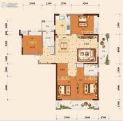 宏维・山水明城・卧龙苑4室2厅2卫162平方米户型图